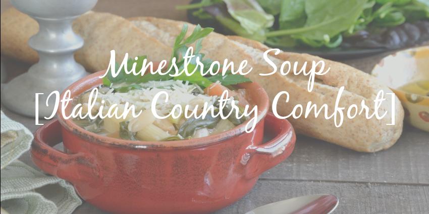 Minestrone Soup [Healthy Italian Comfort Food]
