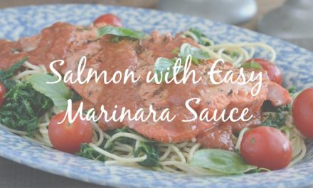 Salmon with Easy Marinara Sauce [What's for Dinner?]