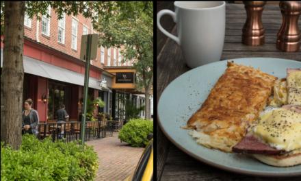 Eggs Benedict in Alexandria: Jackson 20 Restaurant