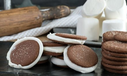 Chocolate Cookies with Marshmallow Center
